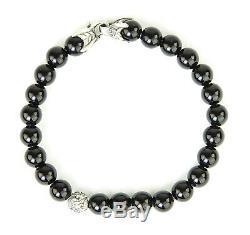 DAVID YURMAN Men's Black Onyx Spiritual Accent Bead Bracelet $495 NEW
