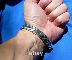 DAVID YURMAN STERLING SILVER MENS CHAIN Woven Braided BRACELET Black Diamonds