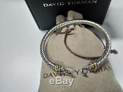 DAVID YURMAN Women's Cable Buckle Bracelet with Gold 925 sterling silver 5mm NEW