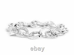 DAVID YURMAN Women's Cable Collectibles Large Oval Link Charm Bracelet 12mm