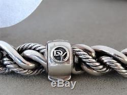 DAVID YURMAN Woven Cable Bracelet Sterling Silver 8 1/2 Long