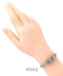 DEVATA BALI Dragon Skin Sterling Silver 925 18K Byzantine Bracelet DHK3146BD M