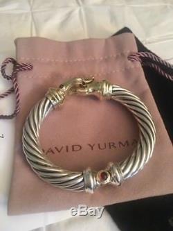 David Yurman 10mm buckle bracelet in Sterling silver and 14k gold