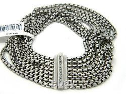 David Yurman 2.7mm 8 Row Box Chain Bracelet Sterling Silver 7 inch NWT