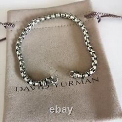 David Yurman Box Chain Bracelet 5mm Sterling Silver Large Man's 8