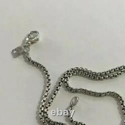 David Yurman Box Chain Necklace With Silver Logo 18Long 2.7mm