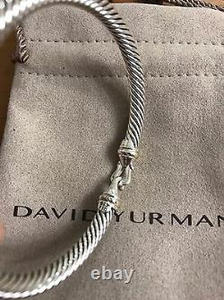 David Yurman Cable Buckle 5mm 925 Silver With 18k LARGE SIZE