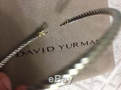 David Yurman Cable Buckle Bracelet With Gold 3mm 925 Sterling Silver With 18k