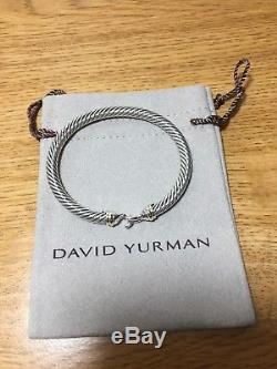 David Yurman Cable Buckle Bracelet With Gold 5mm 925 Sterling Silver 18k