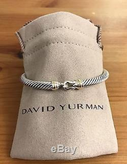 David Yurman Cable Buckle Bracelet With Gold 5mm 925 Sterling Silver With 18k