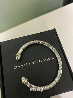 David Yurman Cable Cuff Bracelet 750 18K gold Classic 925 Sterling Silver