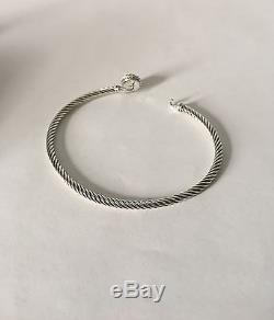 David Yurman Chatelaine Bracelet With Pearl 925 Sterling Silver 3mm