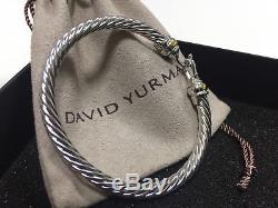 David Yurman Hinge Cable Buckle Bracelet 750 18K gold Classic Sterling Silver