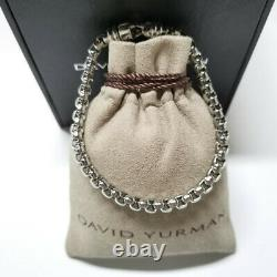David Yurman Large Box Chain Bracelet 5mm Sterling silver Length 8