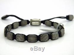 David Yurman Mens 7.75mm Sky Tile Bead Bracelet Sterling Silver NWOT