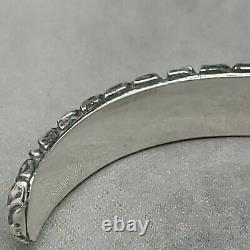 David Yurman Mens 8mm Gator Bangle Cuff Bracelet Sterling Silver