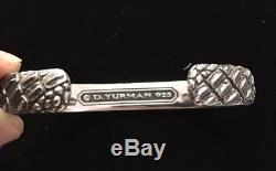 David Yurman Mens New Gator Cuff Bracelet Sterling Silver