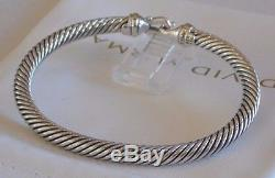 David Yurman New Buckle 18k Yellow Gold Sterling Silver 5mm Cable Bracelet