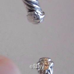 David Yurman New Sterling Silver Diamond Buckle 7mm Cuff Bracelet $1,650