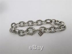 David Yurman Sterling Silver 10mm Medium Oval Link Bracelet