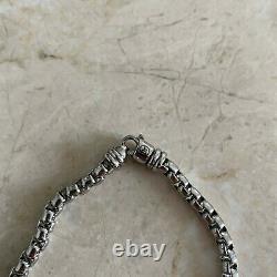 David Yurman Sterling Silver 5mm Wide Box Chain Man's bracelet
