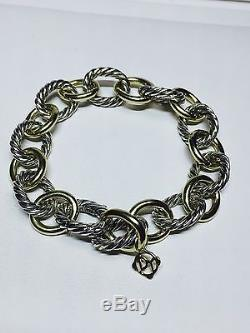 David Yurman Sterling Silver 925 1/4 750 Cable Link Bracelet 7.5