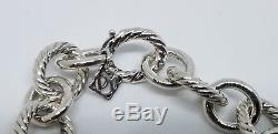 David Yurman Sterling Silver 925 Large Oval Link Bracelet