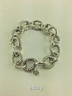 David Yurman Sterling Silver Medium Oval Link Bracelet 10mm