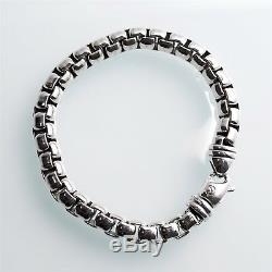 David Yurman Sterling Silver Men's Box Chain 7 mm Bracelet