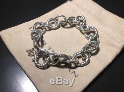 David Yurman Sterling Silver Oval Link Bracelet 10mm