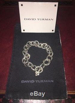 David Yurman Sterling Silver Oval Link Bracelet 10mm (Medium)