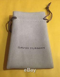 David Yurman X Bracelet 4mm with Gold Medium size 925 Sterling Silver And 18k