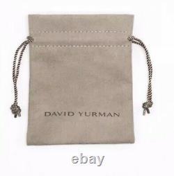 David Yurman X Bracelet with 18k Gold, 4mm Size Large
