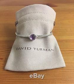 David Yurman chatelaine Bracelet With Amethyst 925 Sterling Silver 3mm