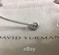 David Yurman chatelaine Bracelet With Turquoise 925 Sterling Silver 3mm