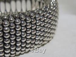 Designer Lagos Sterling Silver 18K 23mm Caviar Beaded Rope Bracelet