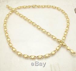 Diamond Cut Hugs & Kisses Bracelet Necklace Set 14K Yellow Gold Clad Silver 925