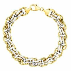 Double-Link Bracelet in 14K Gold-Bonded Sterling Silver