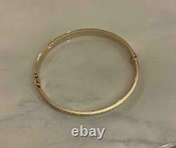 Estate Vintage 18K Yellow Gold Over Love Bangle Mens/Women's 7.5 Fine Bracelet