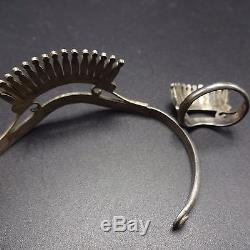 Fine Vintage ZUNI Sterling Silver & TURQUOISE Needlepoint Cuff BRACELET & RING