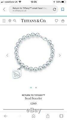 Genuine Tiffany & Co. Sterling Silver Bead Bracelet