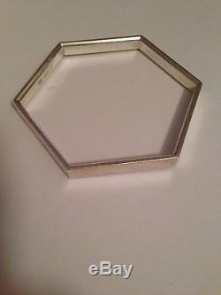 Georg Jensen Sterling Silver Bracelet/bangle #177. Measures 6,6cm