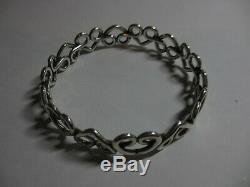 Gorgeous Mint Retired James Avery Sterling Enduring Heart Bangle Bracelet-no Res