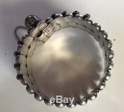 Great 1940's Vintage Mexico Sterling Silver Amethyst Bracelet