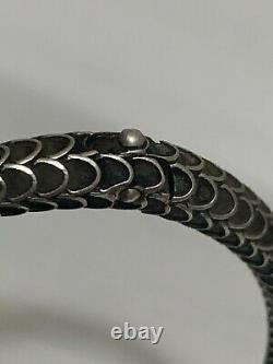 Gucci Garden Snake Aged Sterling Silver Bangle Bracelet YBA577283001018