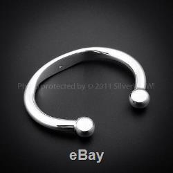 HEAVY ID TORQUE Bangle / Bracelet Identity & SOLID 925 Sterling Silver