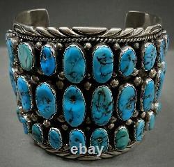 HUGE Vintage Navajo Sterling Silver Turquoise Cuff Bracelet FINAL PRICE DROP