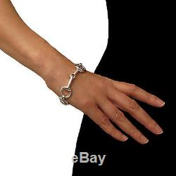 Heavy Horsebit Snaffle 925 Sterling Silver Horse Bit Riding Tack Bracelet