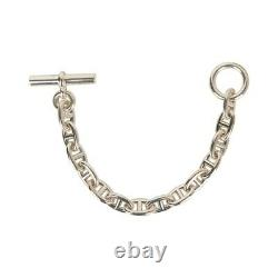 Hermes Bracelet Chaine d'Ancre Sterling Silver Medium Model