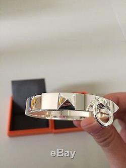 Hermes New Collier De Chien CDC Silver Bracelet